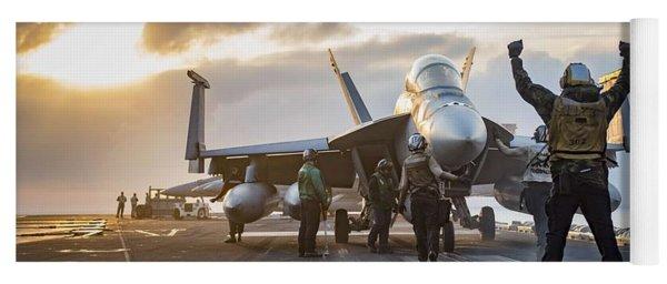 Uss Carl Vinson Conducts Flight Operations 1 Yoga Mat