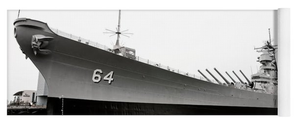 Yoga Mat featuring the photograph Uss Wisconsin - Port-side by Christopher Holmes