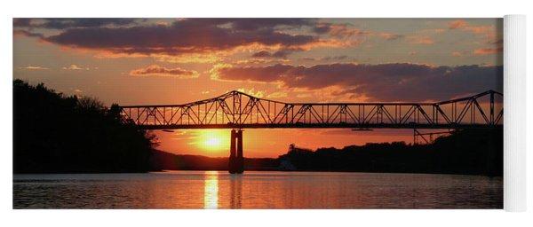 Utica Bridge At Sunset Yoga Mat