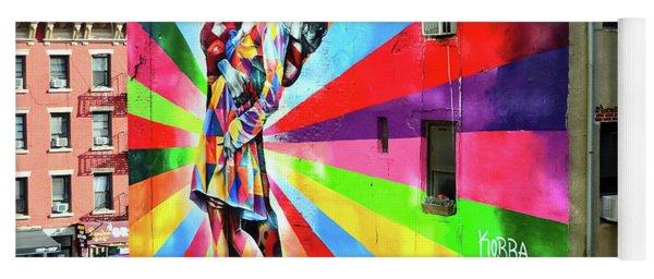 V - J Day Mural By Eduardo Kobra # 2 Yoga Mat