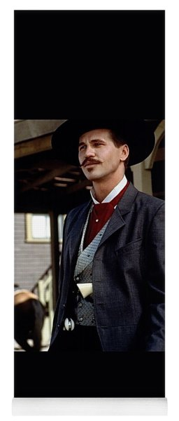 Val Kilmer As Doc Holliday Tombstone Set 1993-2015 Yoga Mat