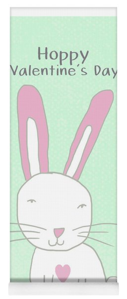Valentine Bunny- Art By Linda Woods Yoga Mat