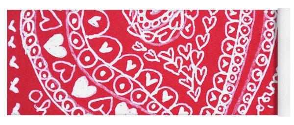 Valentine Heart Yoga Mat