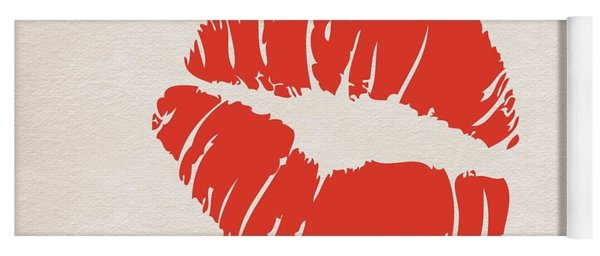 Yoga Mat featuring the painting Valentine Kiss by Marian Palucci-Lonzetta
