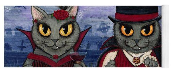Vampire Cat Couple Yoga Mat