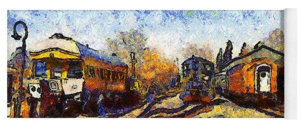 Van Gogh.s Train Station 7d11513 Yoga Mat