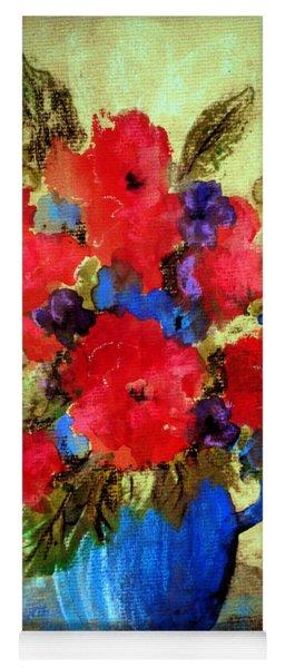 Vase Of Delight-still Life Painting By V.kelly Yoga Mat