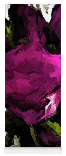 Vase Of Roses With Shadows 2 Yoga Mat