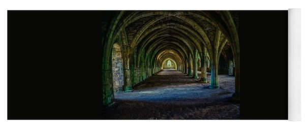 Vaulted, Fountains Abbey, Yorkshire, United Kingdom Yoga Mat