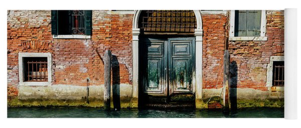 Venetian House On Canal Yoga Mat