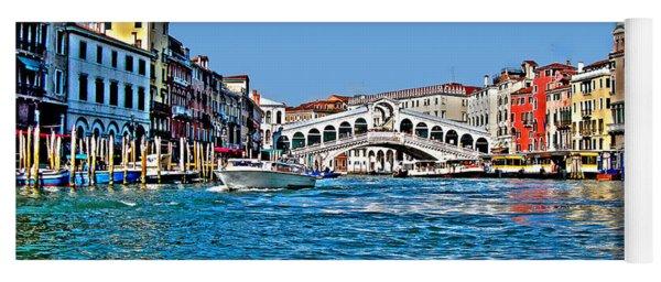 Venezia - Il Gran Canale - Ponte Rialto Yoga Mat