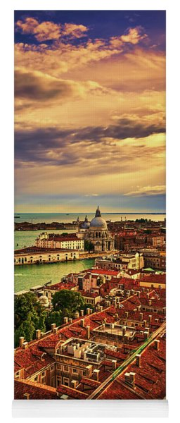 From The Bell Tower In Venice, Italy Yoga Mat