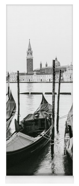 Venice Gondolas On Film  Yoga Mat