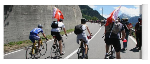 Yoga Mat featuring the photograph Verbier - Tour De France 2009 by Travel Pics