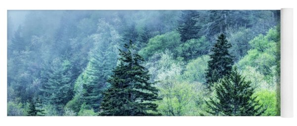Verdant Forest In The Great Smoky Mountains Yoga Mat