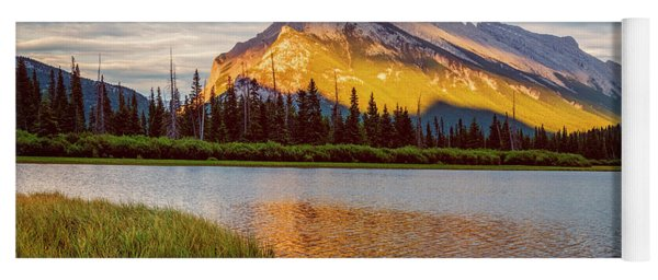 Vermillion Lakes And Mt Rundle II Yoga Mat