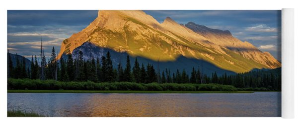 Vermillion Lakes And Mt Rundle Yoga Mat