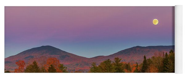 Vermont Fall, Full Moon And Belt Of Venus Yoga Mat