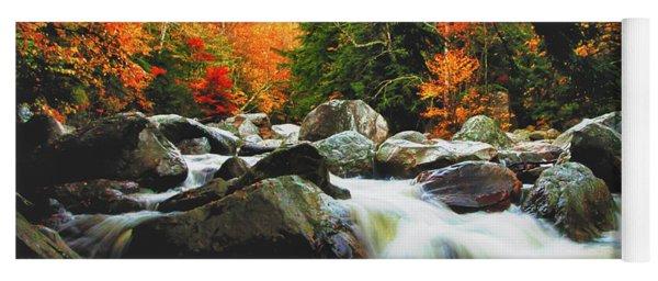 Vermonts Fall Color Rapids Yoga Mat