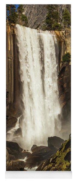 Vernal Falls And Hiker - Yosemite Yoga Mat
