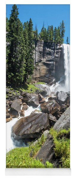 Yoga Mat featuring the photograph Vernal Falls- by JD Mims