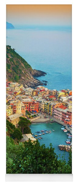 Vernazza From Above Yoga Mat
