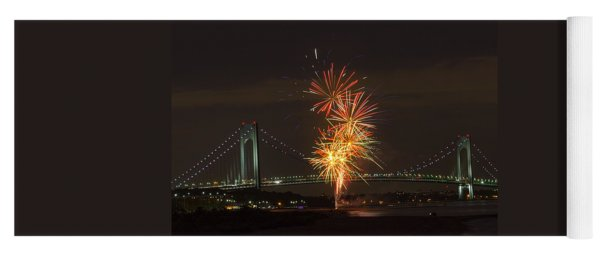 Verrazano Narrows Bridge At 50 Years Old Yoga Mat