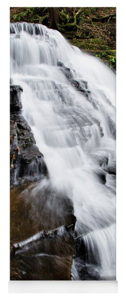 Mountain Waterfall Yoga Mat