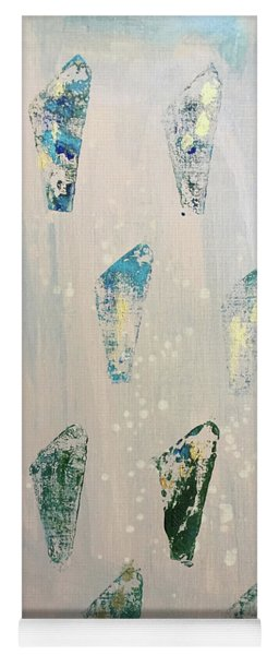 Yoga Mat featuring the painting Vestige by Robin Maria Pedrero