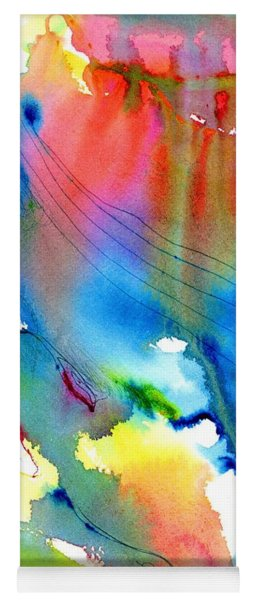 Vibrant Colorful Abstract Watercolor Painting Yoga Mat