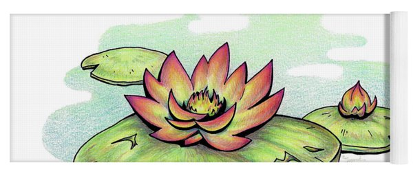 Vibrant Flower 2 Water Lily Yoga Mat