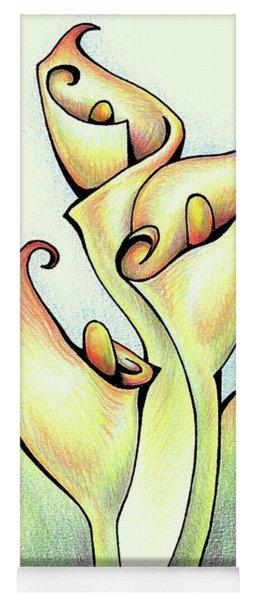 Vibrant Flower 3 Arum Lily Yoga Mat