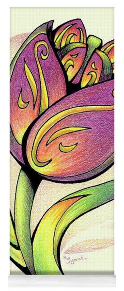 Vibrant Flower 5 Tulip Yoga Mat