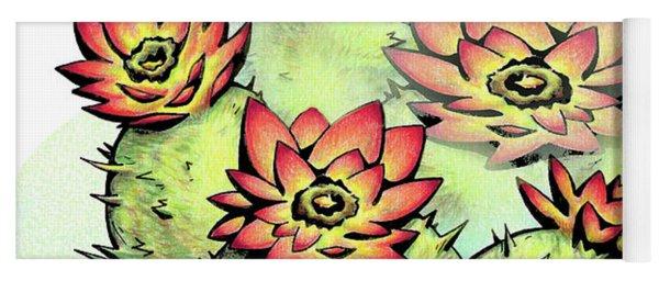 Vibrant Flower 6 Cactus Yoga Mat