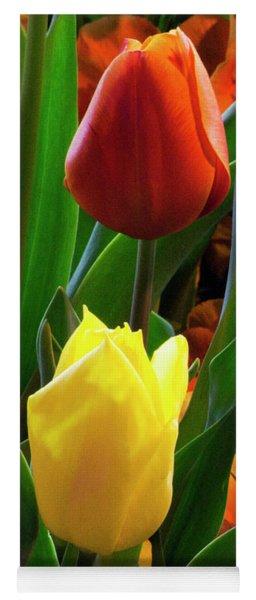 Vibrant Tulips Yoga Mat