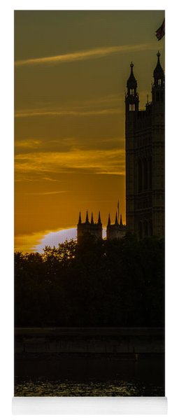 Victoria Tower In London Golden Hour Yoga Mat