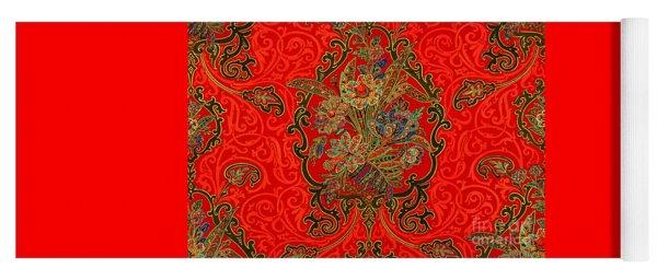 Victorian Art Nouveau Paisley Yoga Mat