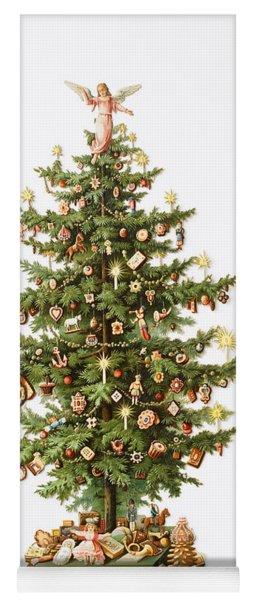 Victorian Christmas Card Yoga Mat