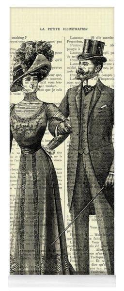 Victorian Couple Yoga Mat