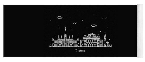 Vienna Skyline Travel Poster Yoga Mat