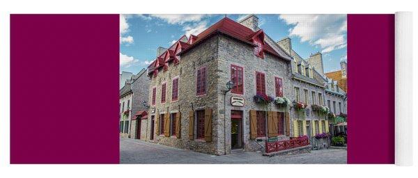 Vieux Quebec, Place Royale, Canada Yoga Mat
