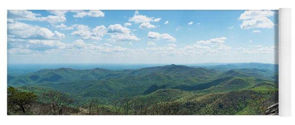 View From Blood Mountain Georgia Yoga Mat