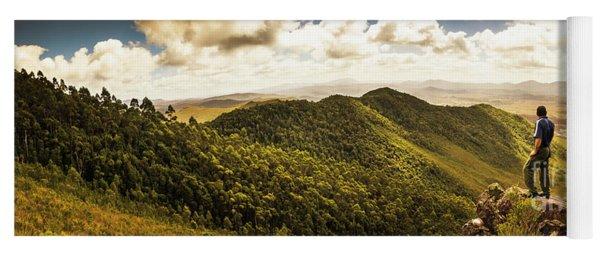 View From Halfway Up Mount Zeehan Yoga Mat
