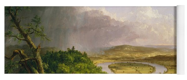 View From Mount Holyoke Northampton Massachusetts After A Thunderstorm. The Oxbow Yoga Mat