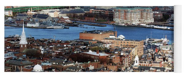 View Of Charlestown Navy Yard Yoga Mat