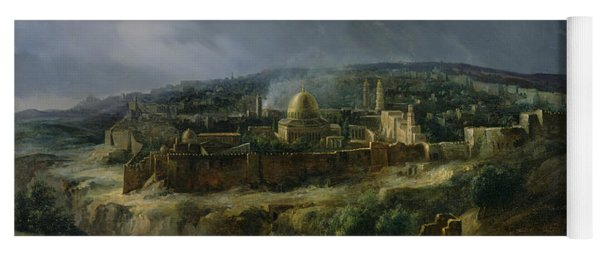 View Of Jerusalem From The Valley Of Jehoshaphat Yoga Mat