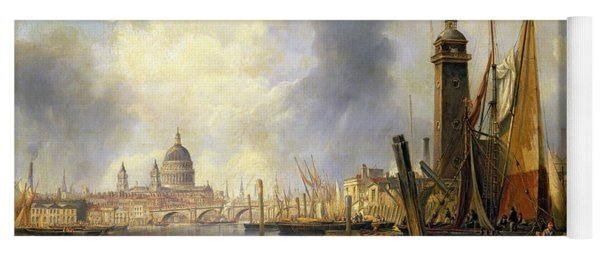 View Of London With St Paul's Yoga Mat