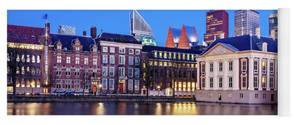 Yoga Mat featuring the photograph View Of Mauritshuis And The Hofvijver - The Hague by Barry O Carroll