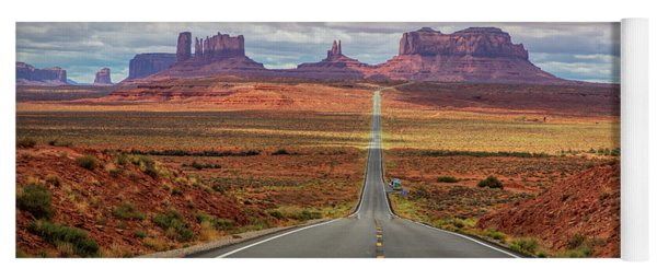 View Of Monument Valley From Forrest Gump Point Yoga Mat