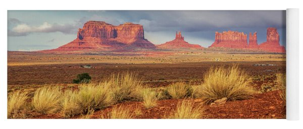 View Of Monument Valley Yoga Mat
